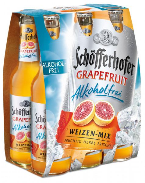Schöfferhofer Grapefruit alkoholfrei 6 X 0,33