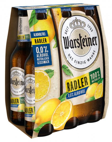Warsteiner Radler alkoholfrei 6 X 0,33