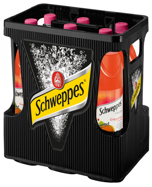 Schweppes Fruity Grapefruit PET - 6 X 1