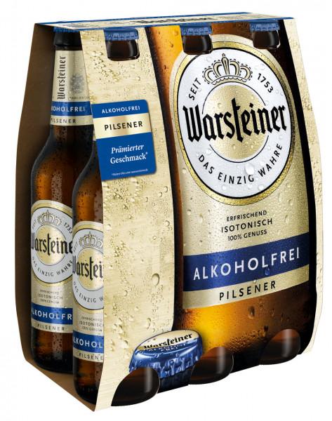 Warsteiner alkoholfrei 6 X 0,33