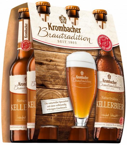 Krombacher Brautradition Kellerbier 6 X 0,33