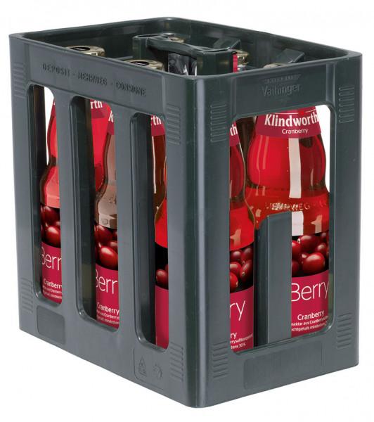 Klindworth BERRY Cranberry-Nektar - 6 X 1